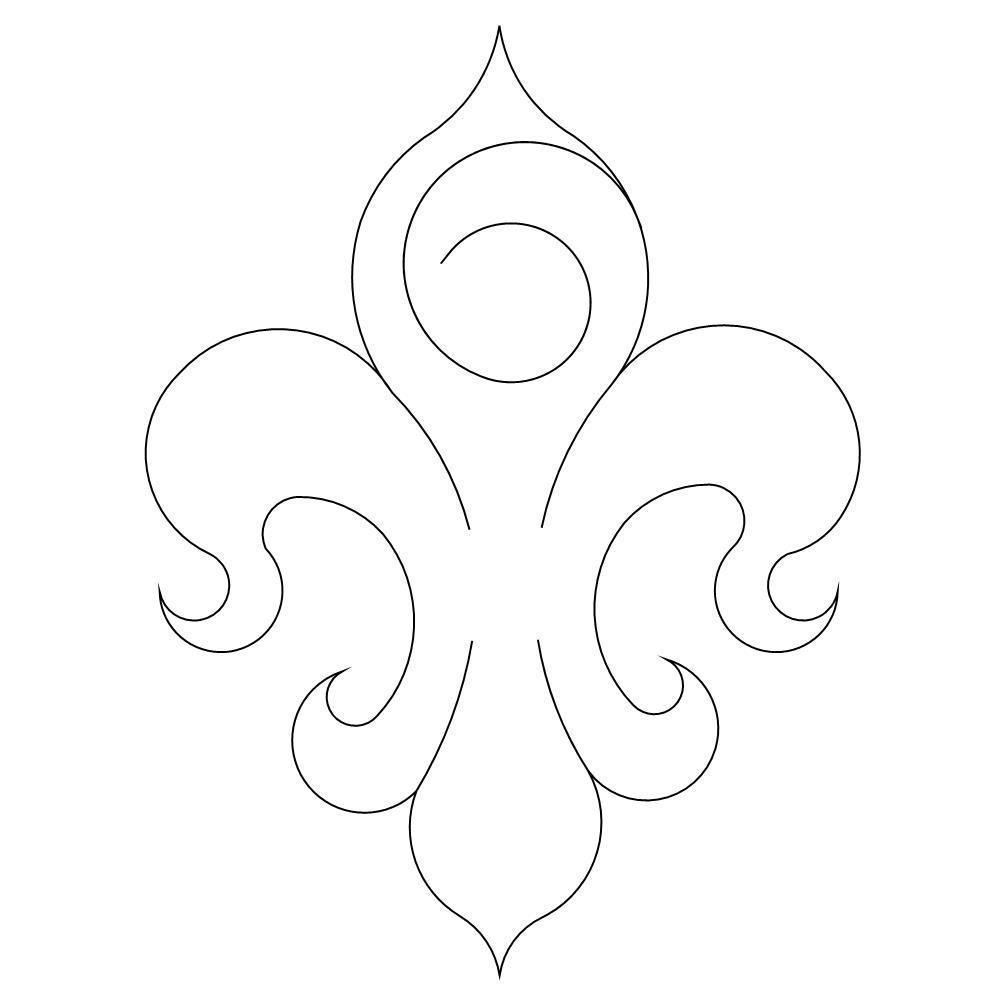 Shop | Category: Motiffs | Product: Le Fleur De Lis Motif 3