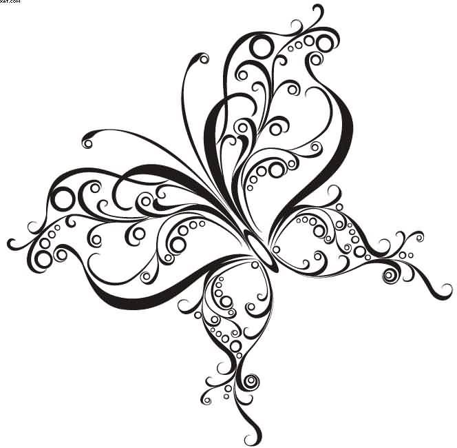 free swirls butterfly tattoo design tattoos pinterest butterfly tattoo designs tattoo. Black Bedroom Furniture Sets. Home Design Ideas