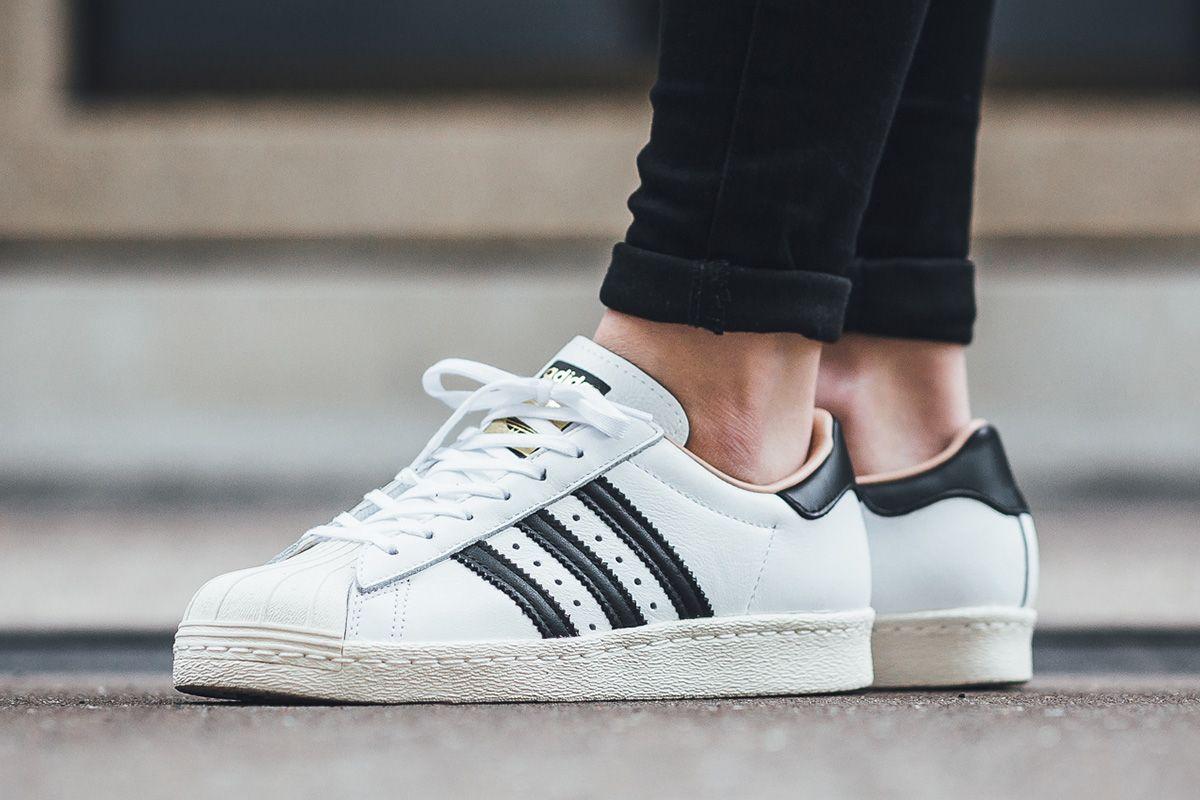 "100% authentic e340f 6180c adidas Superstar 80s W ""Footwear WhiteCore Black"" - EU Kicks Sneaker  Magazine"