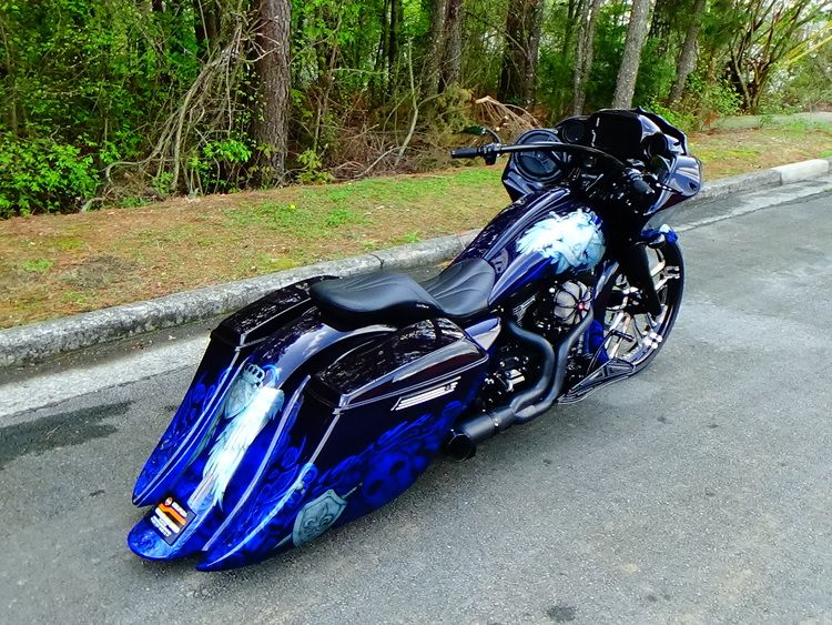 Custom Harley Baggers Paint Jobs Google Search Harleys Motorcycles