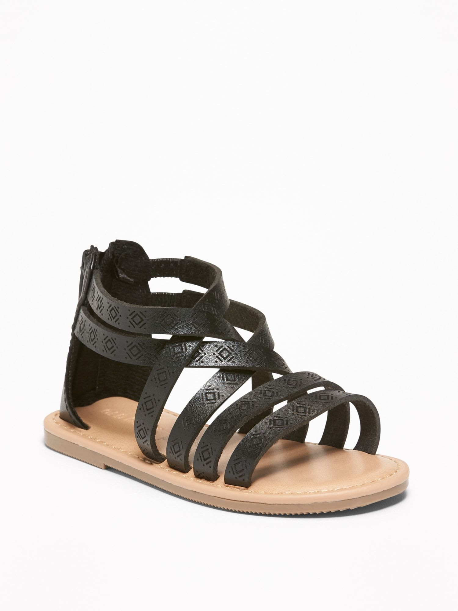 a72d085a277 Embossed Faux-Leather Gladiator Sandals for Toddler Girls in 2019 ...