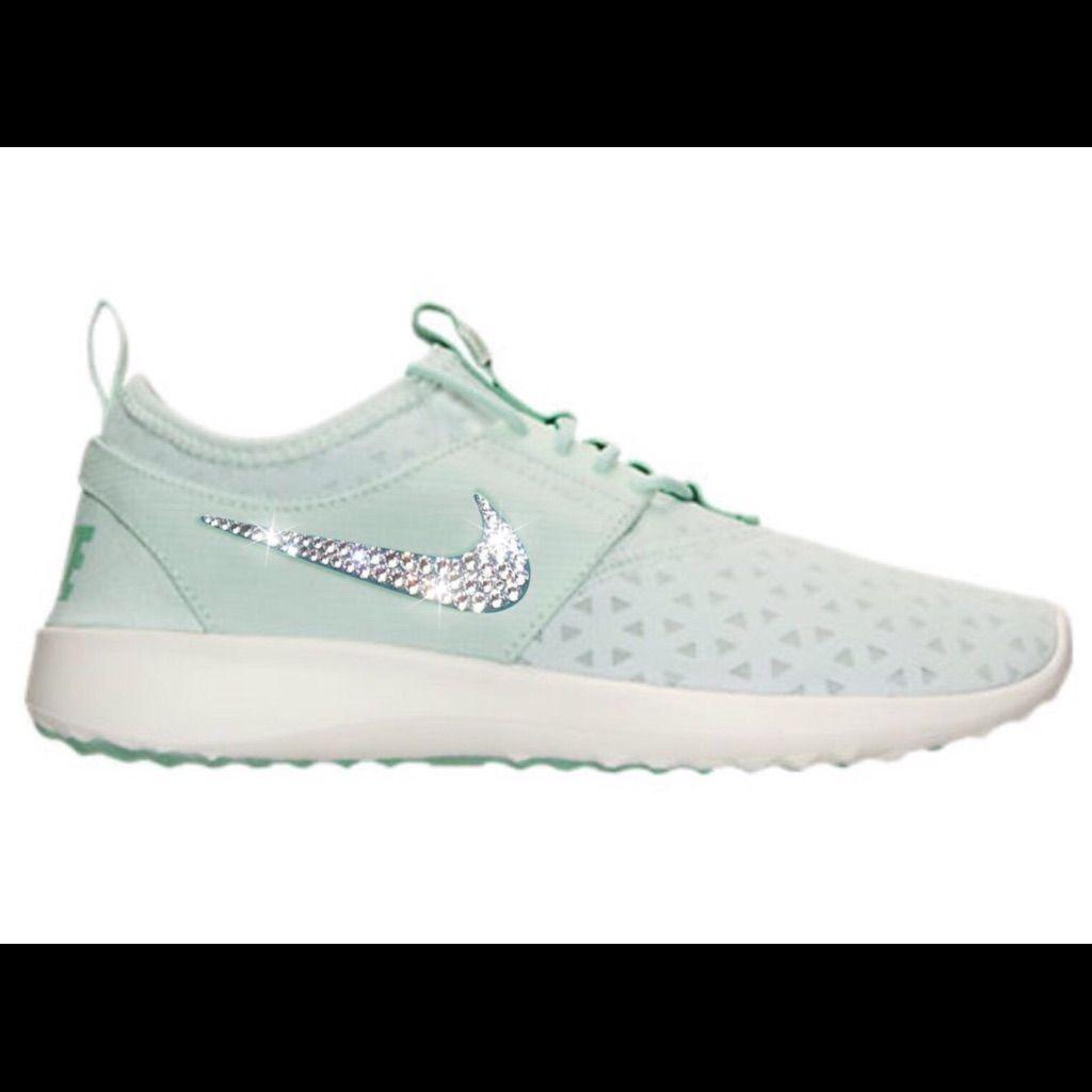 Bling Nike Juvenate Shoes with Swarovski Crystals  Pale Green