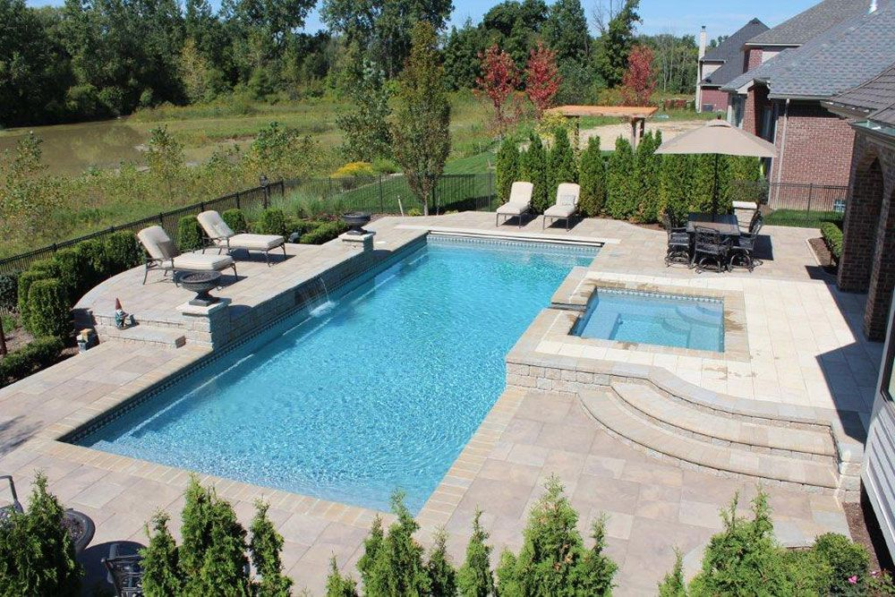 ultra outdoors - Rectangle Pool With Water Feature