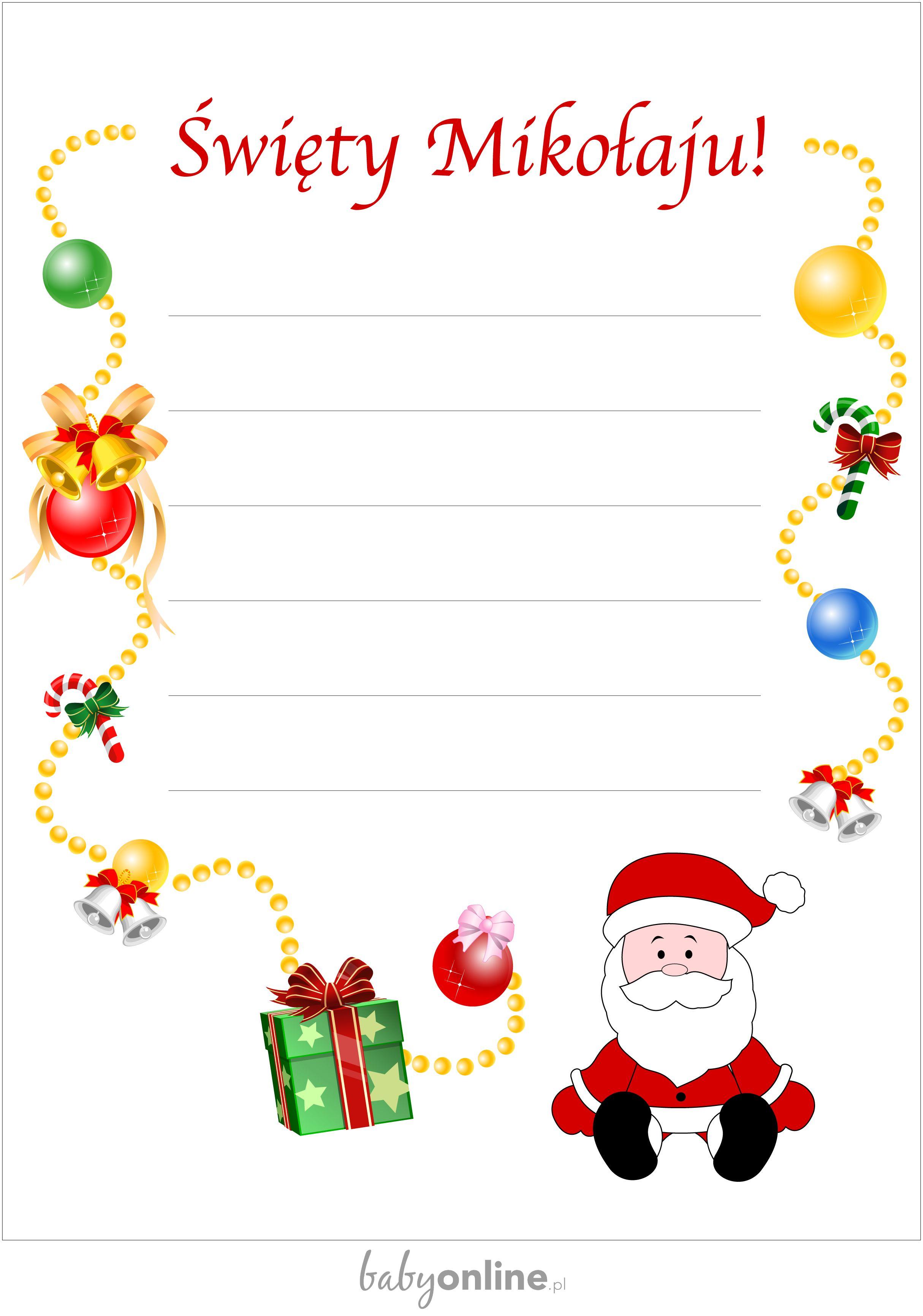 List Do Swietego Mikolaja Do Druku List Do Swietego Mikolaja Babyonline Crafts For Kids Holidays And Events Christmas Diy