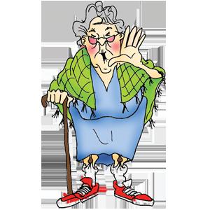 Resultado de imagen para old lady with cane png