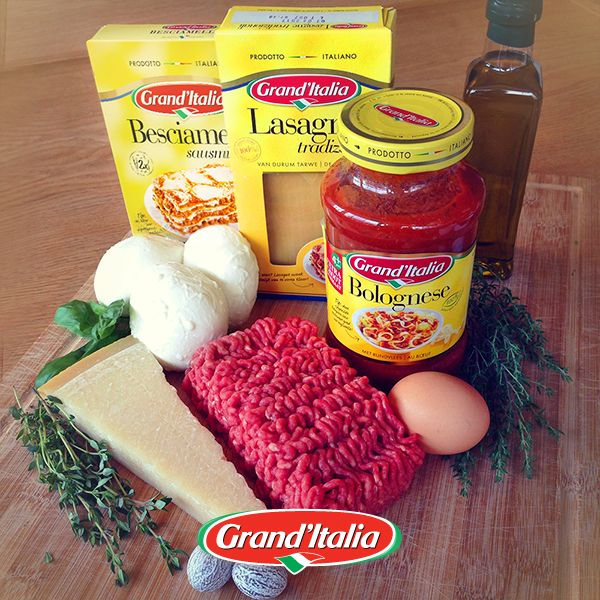 Dit zijn de ingrediënten voor ons pastagerecht van vandaag. Welk gerecht maak jij met besciamella en gehakt? #pastacreatie