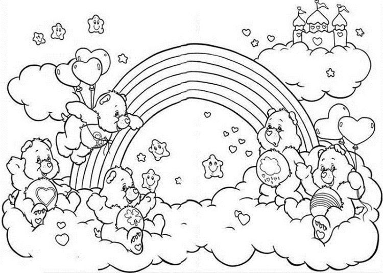 Care Bear Rainbow Coloring Pages Dbest Coloring Pages In 2019