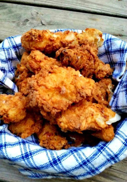 Buttermilk Fried Chicken With Chicken Fingers Buttermilk Self Rising Flour Salt Sweet Papri Fried Chicken Recipes Fried Chicken Recipe Easy Chicken Recipes