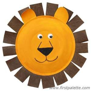 Lion paper plate craft idea