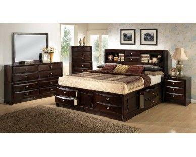 6 Piece King Bedroom   Dark Espresso Finish   Sam Levitz 1,199 Furniture