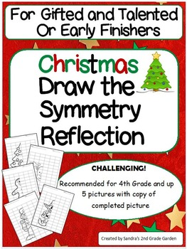 These challenging symmetry reflection drawings will keep your gifted and talented students and early finishers busy through the weeks leading up to Christmas. What a great way to challenge their visual and spacial abilities! May also be used for a math center.