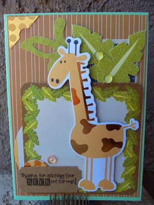DoubleClick - AKA Abusybee: Thanks for Sticking your NECK out for me! Scrappy Mom Stamps release! Cool Giraffe!  (Pin#1: Animals... Pin+: Babies...).