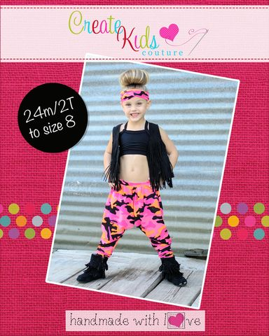Create Kids Couture - Parker's Parachute Pants For Girls and Boys PDF Pattern, $8.00 (http://createkidscouture.com/parkers-girls.html)