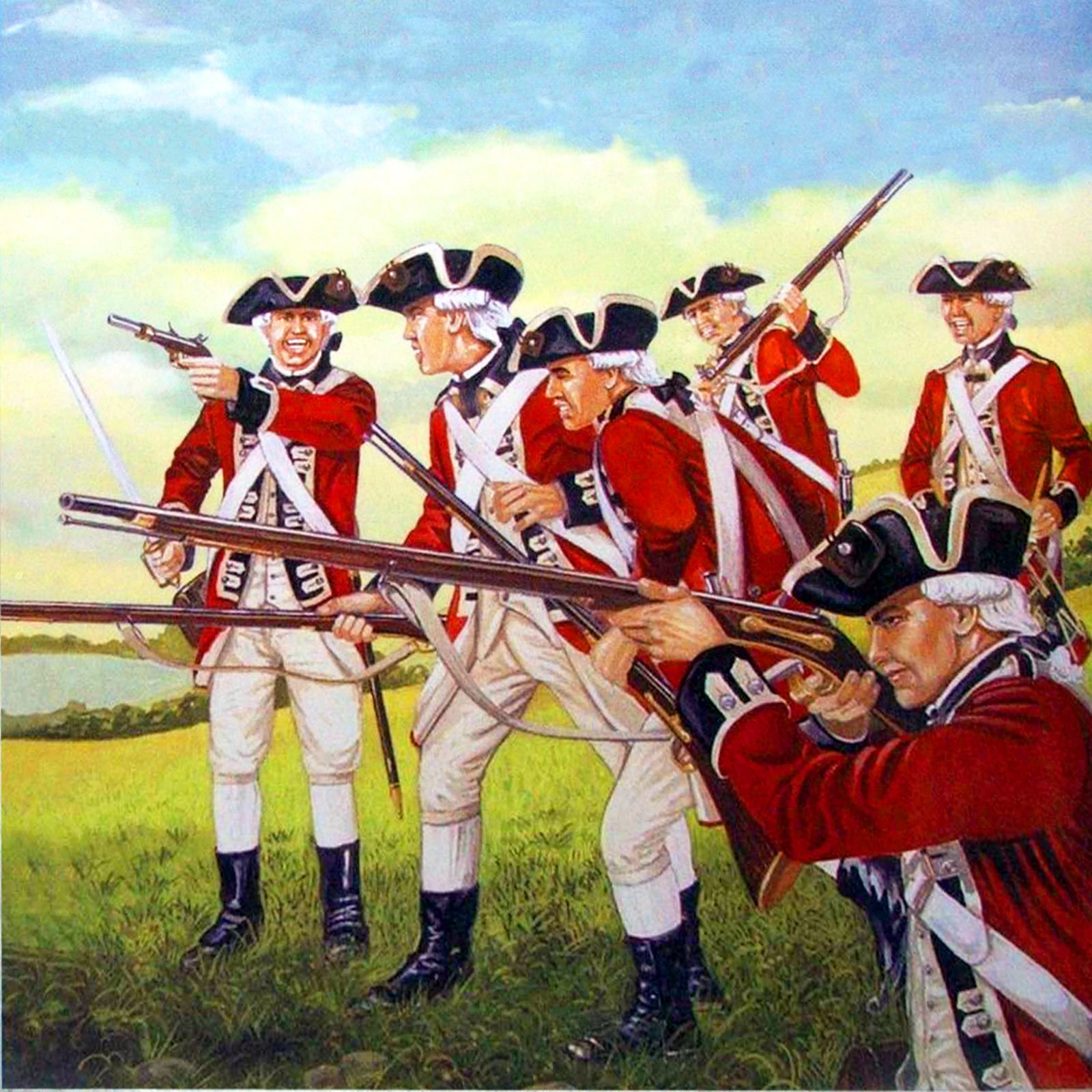 British 'redcoat' line infantry, American War of Independence ...