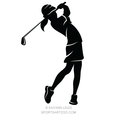 golfer-girl-silhouette-thumb.jpg | golf design, sports art, girl silhouette  pinterest
