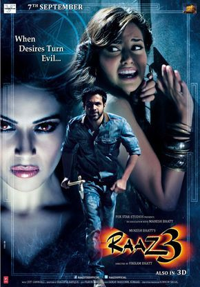 When Desires Turn Evil Raaz 3d Translation Secret 3d Aka Raaz 3 And Raaz 3 The Third Dimension Is A 2012 Ind Bollywood Posters Movies Hindi Movies