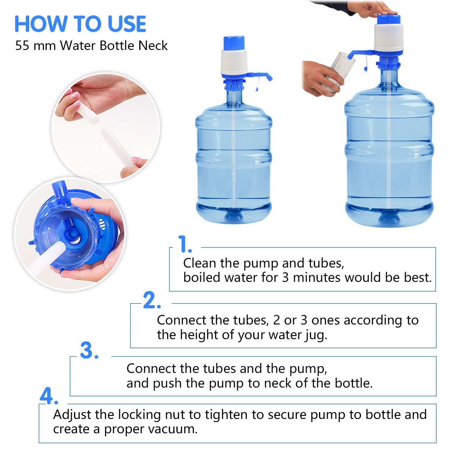 Drinking Water Pump Manual Water Bottle Pump With Water Switch For 3 5 6 Gallon Jug Click Image For More Detail Drinking Water Water Dispenser Water Bottle