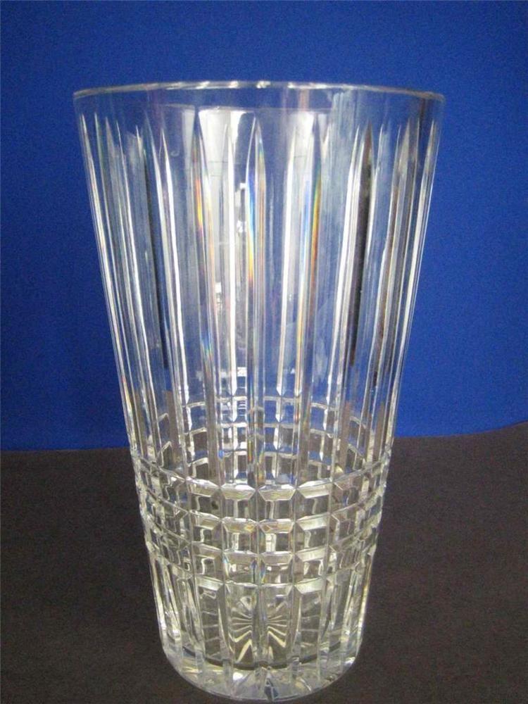 Vintage Block Crystal Czech Clear Cut Crystal Stunning Large Heavy