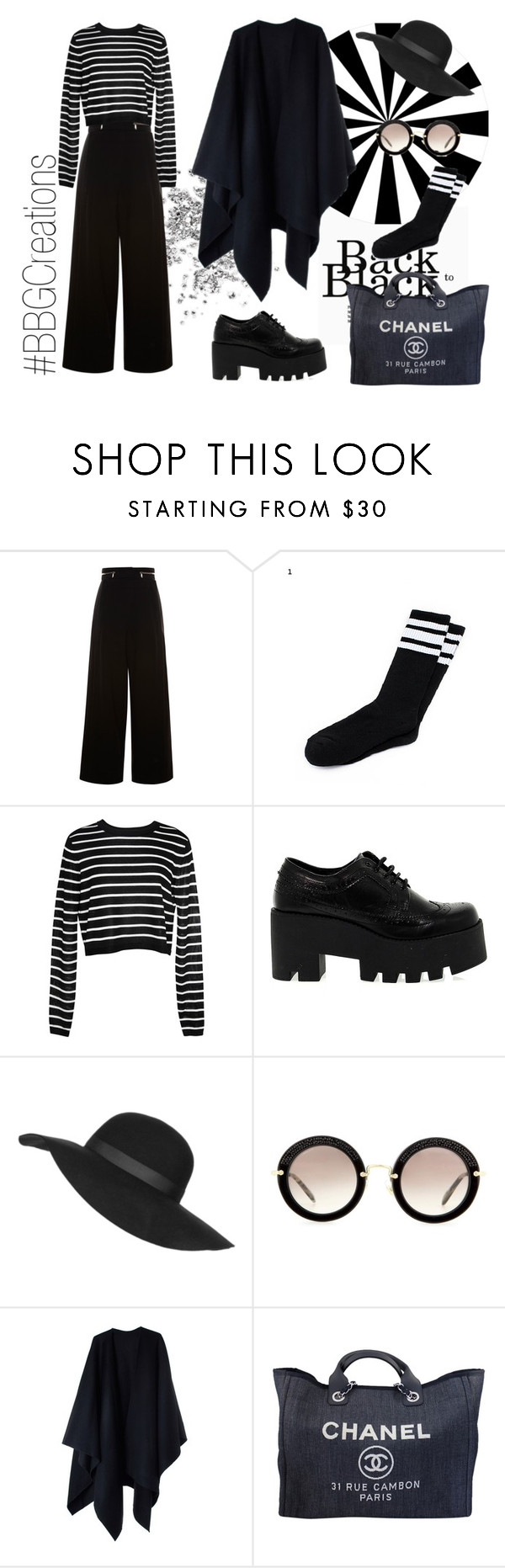 """""""Back in Black"""" by bigblueglasses on Polyvore featuring Proenza Schouler, TIBI, Windsor Smith, Topshop, Miu Miu, Acne Studios, Chanel, women's clothing, women and female"""