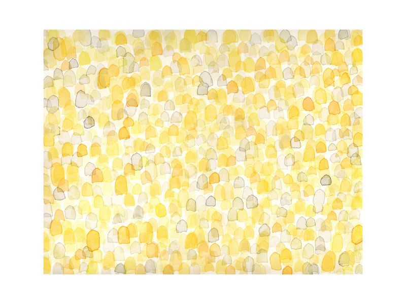 Abstract Amber Field Wall Art Prints by Pamela Steiner   Minted