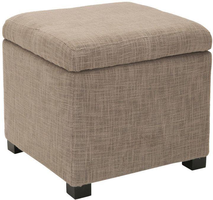 Excellent Safavieh Madison Storage Ottoman Products Square Storage Machost Co Dining Chair Design Ideas Machostcouk