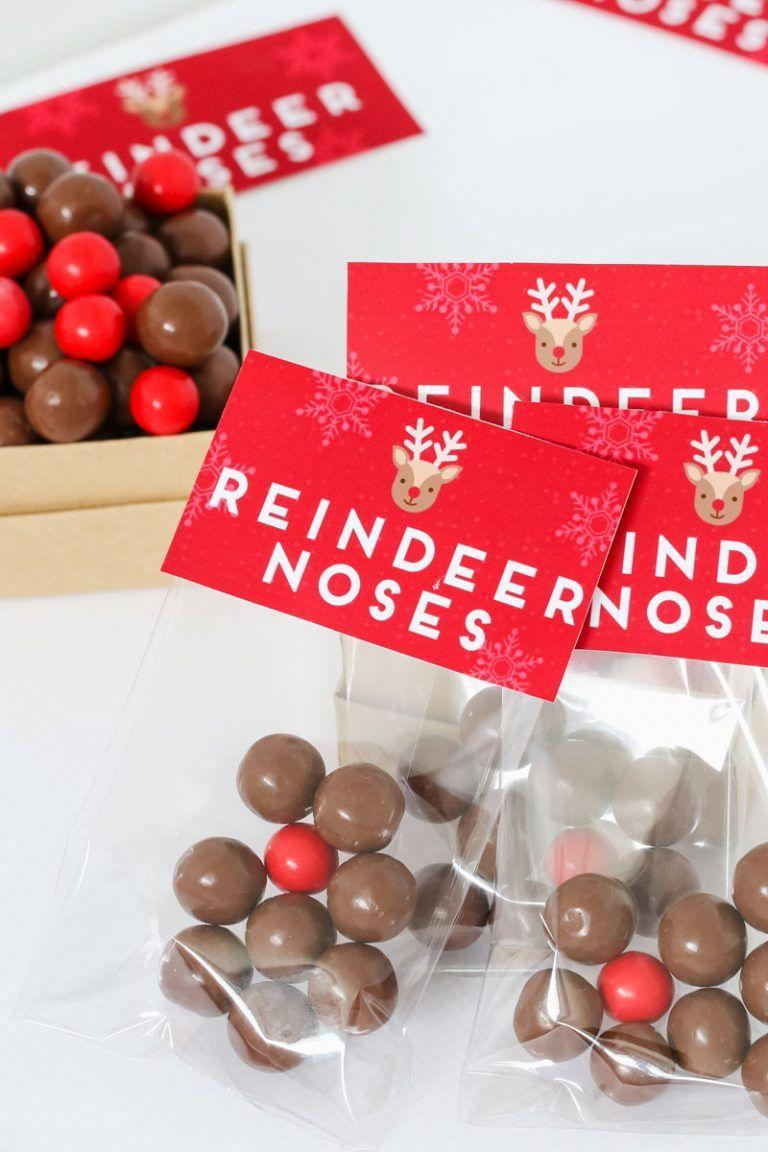 Reindeer Noses - Free Christmas Printable Gift Bag | Things to make ...