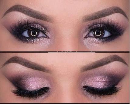 Maquillaje de noche vestido rosa
