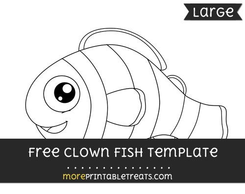 free clown fish template large shapes and templates printables