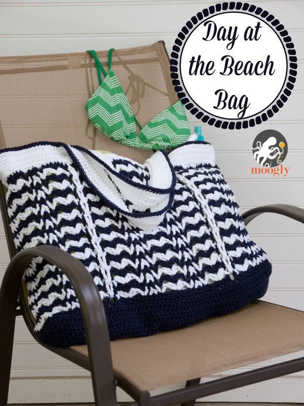 It\'s a Day at the Beach Bag - Free #Crochet Pattern on Moogly ...