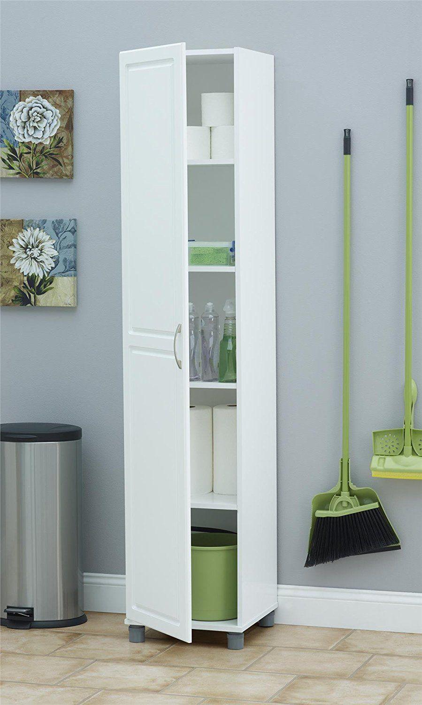 Amazon SystemBuild Kendall 16 Storage Cabinet White Stipple