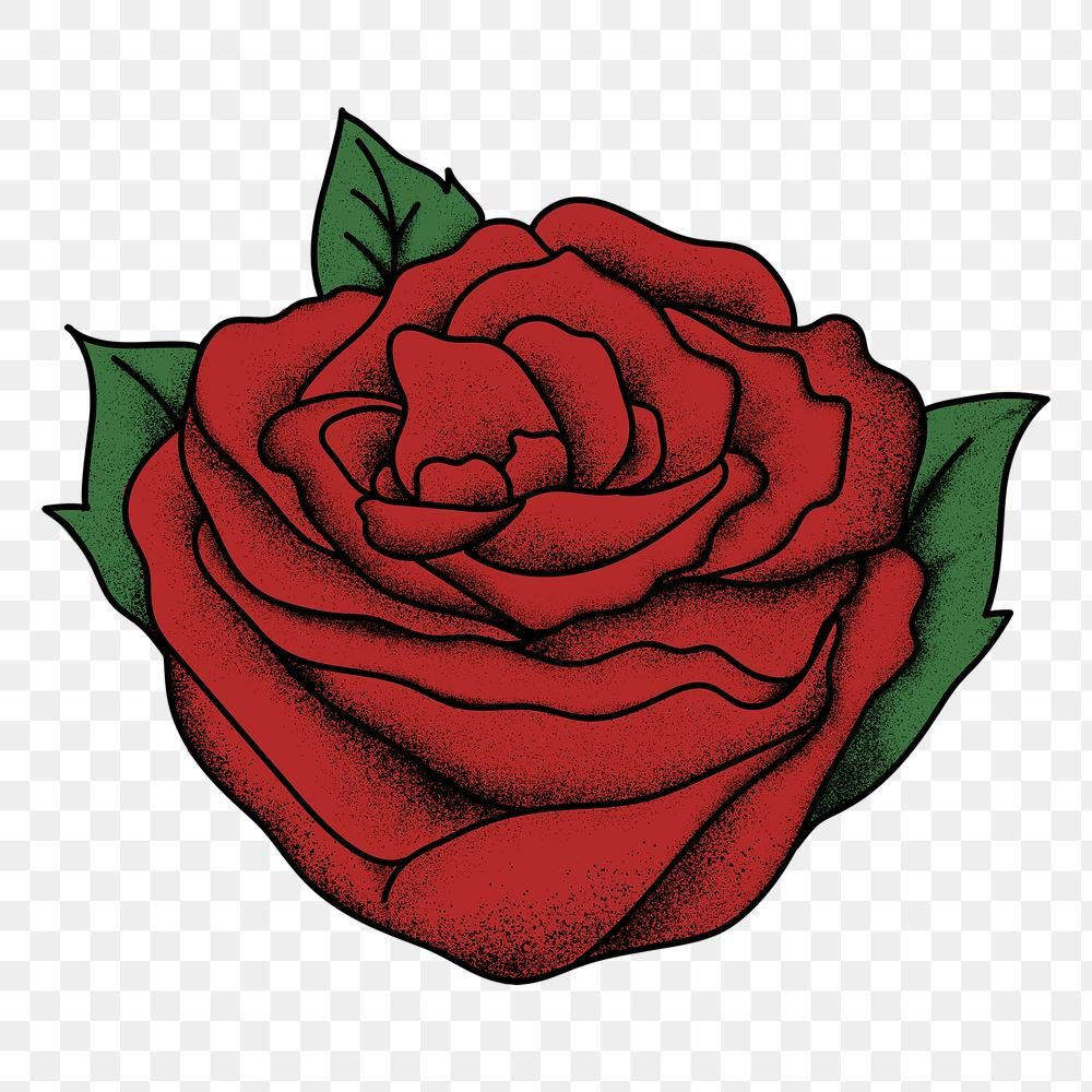Old School Flash Tattoo Red Rose Png Vintage Icon Free Image By Rawpixel Com Techi Red Rose Png Vintage Icons Red Roses