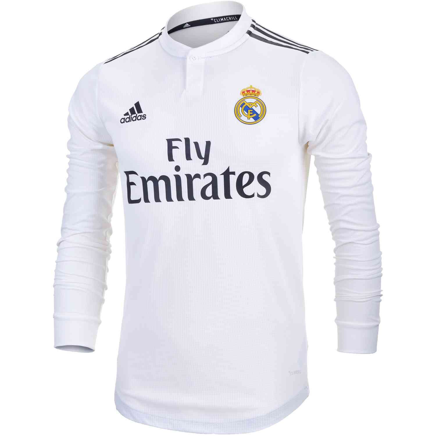 Buy the Kids adidas Real Madrid long sleeve home jersey from  www.soccerpro.com 43193721ccc0e