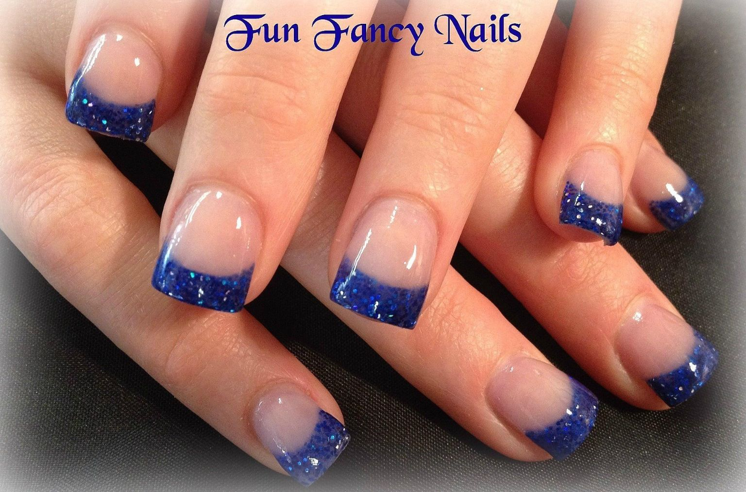 Blue Tips Blue And Silver Nails Blue Wedding Nails Acrylic Nail Tips