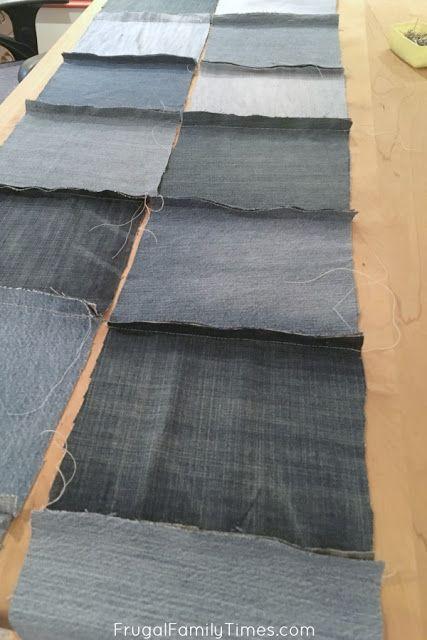 Comment faire une courtepointe en denim à l'aide de vieux jeans (un projet de couture ultra simple!) Temps de famille frugal   – kottan herşey