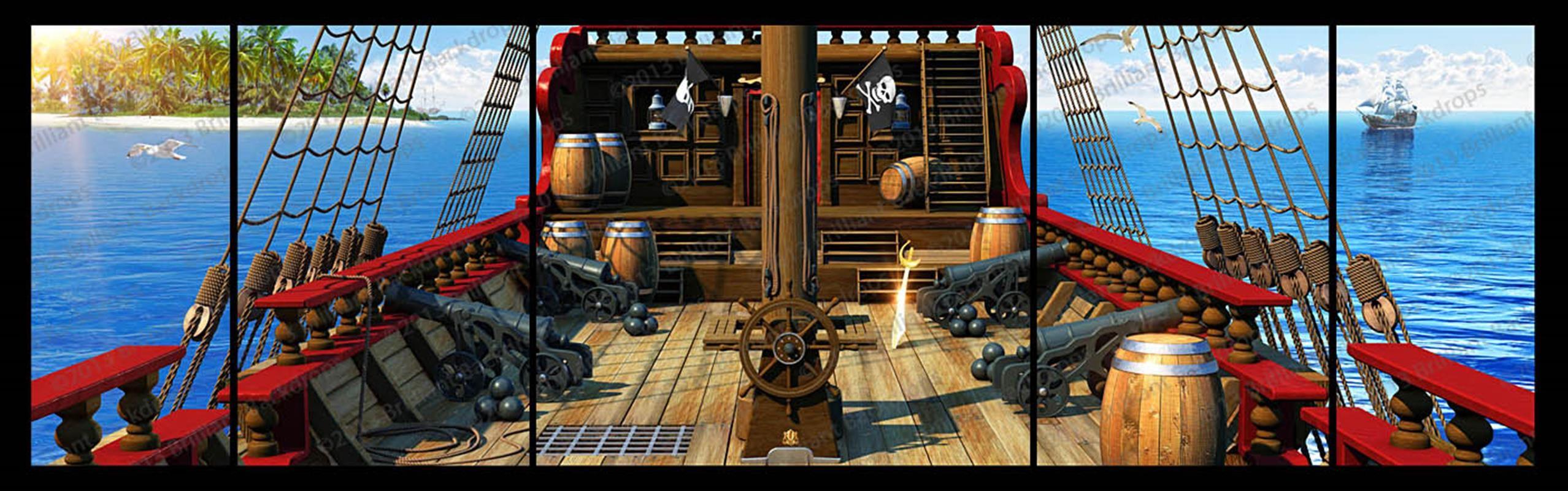 Pirate Ship Deck Backdrop pirate-ship-backdrop.j...
