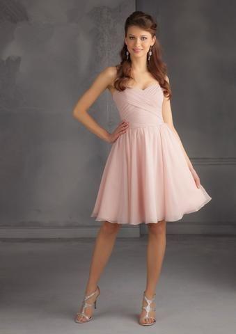 Short Chiffon Blush Pink Short Cheap Bridesmaid Dresses Under 50