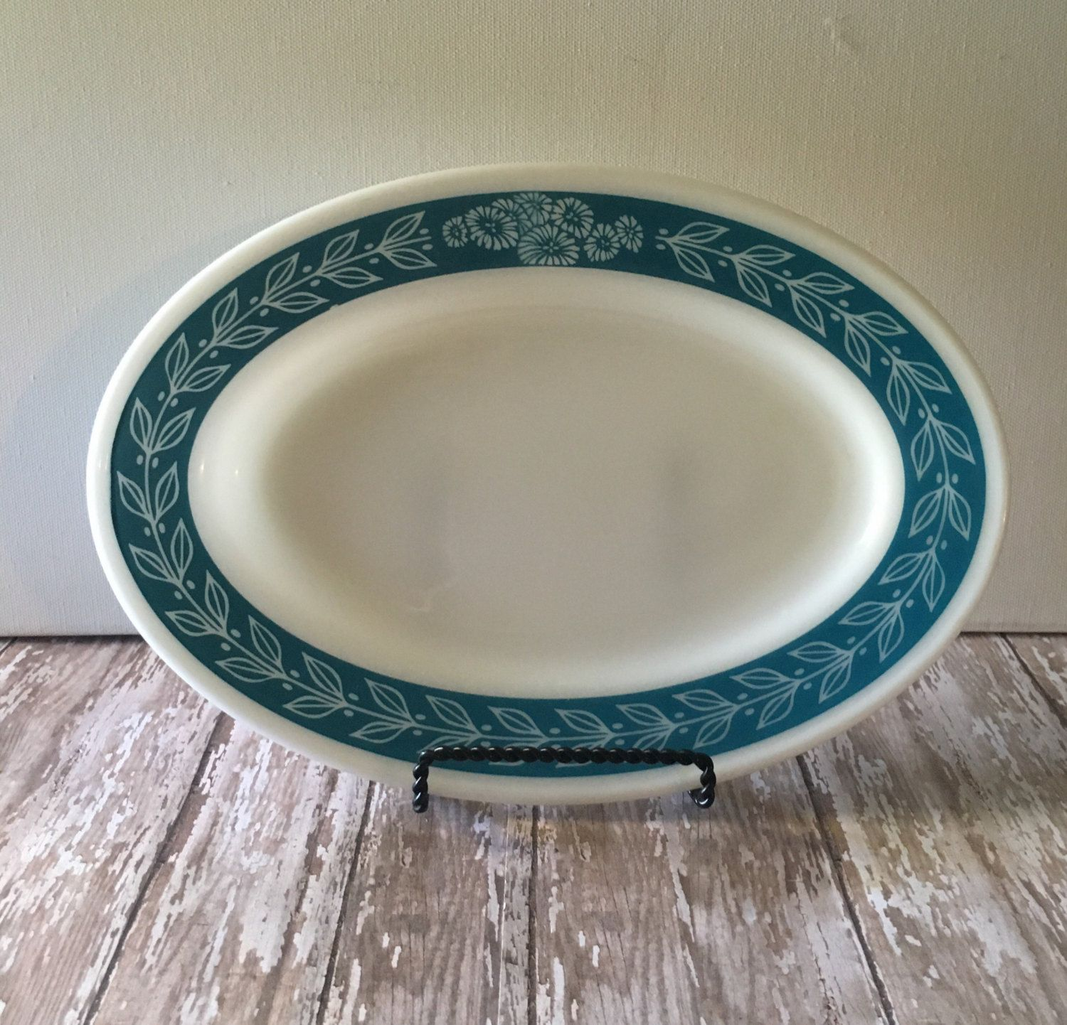 Vintage Pyrex Bluegrass Pattern Platter Pyrex Tableware by Corning Made in USA\u2026 : pyrex dinnerware patterns - pezcame.com