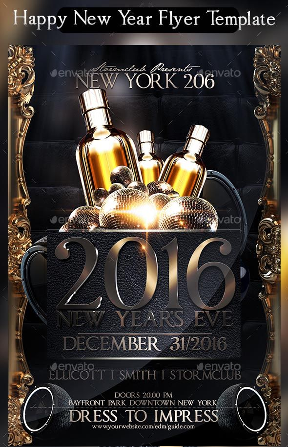 22+ Free New Year Flyer Templates 2017 Flyer template and Fonts - new year brochure template