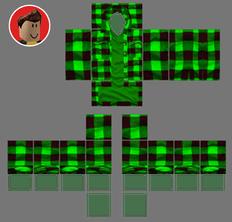 roblox skins green shirt template