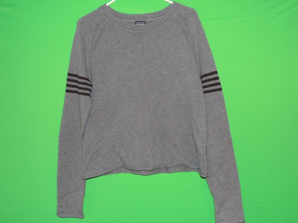#Patagonia #Womens #Large #Gray #BoatNeck #LongSleeve #Sweater #Sweatshirt #FREEShipping