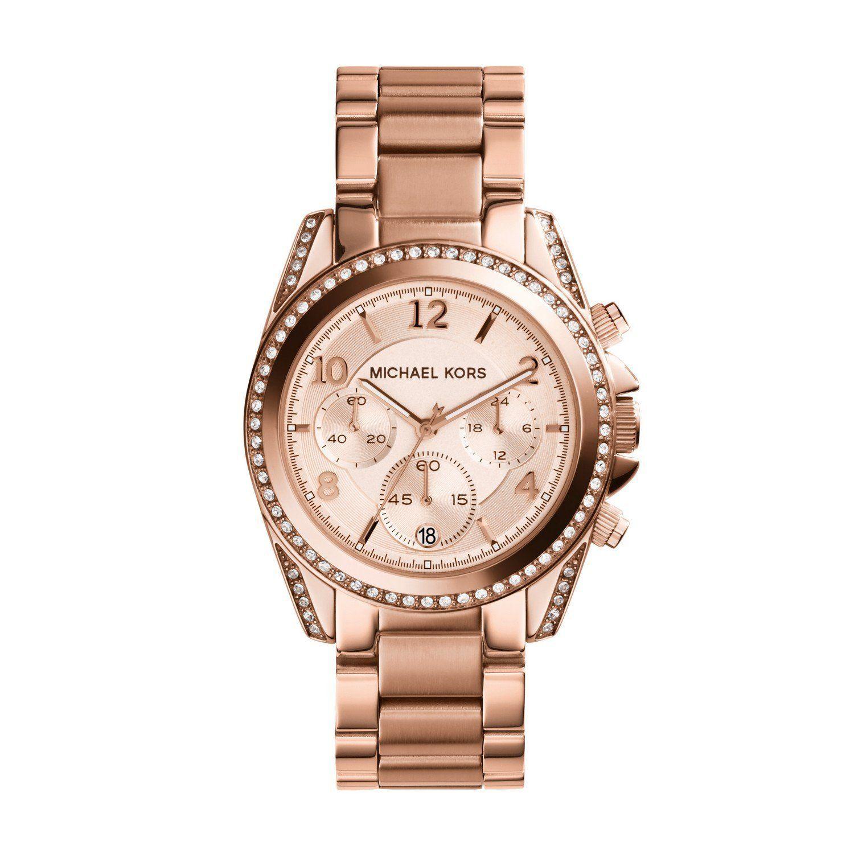 Amazon Com Michael Kors Blair Rose Gold Tone Watch Mk5263 39 Mm Rose Gold Plated Stai Watches Women Michael Kors Michael Kors Wrist Watch Michael Kors Blair