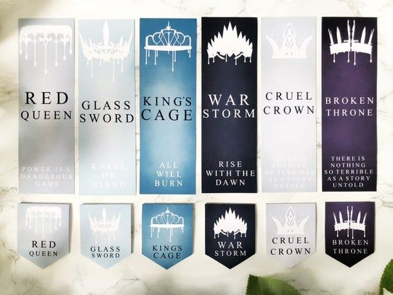 22. Red Queen Series Inspired Bookmark Set + Novellas Options Available