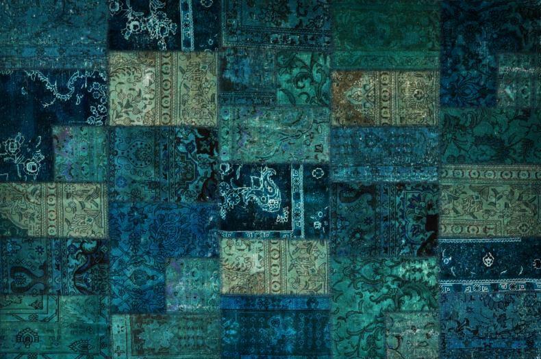 Perzisch Tapijt Groen : Tapijt zwart elegant tapijt groen inspirerende groot blauw