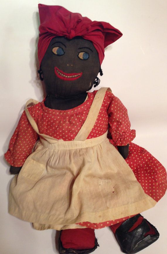 This Is An Antique Handmade Primitive Mammy Doll She Has