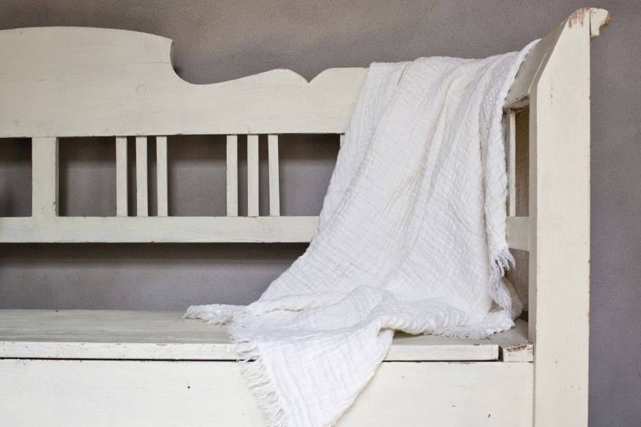 Linen throw, courtesy of Once Milano, from the L'AB story, Simple Pleasures