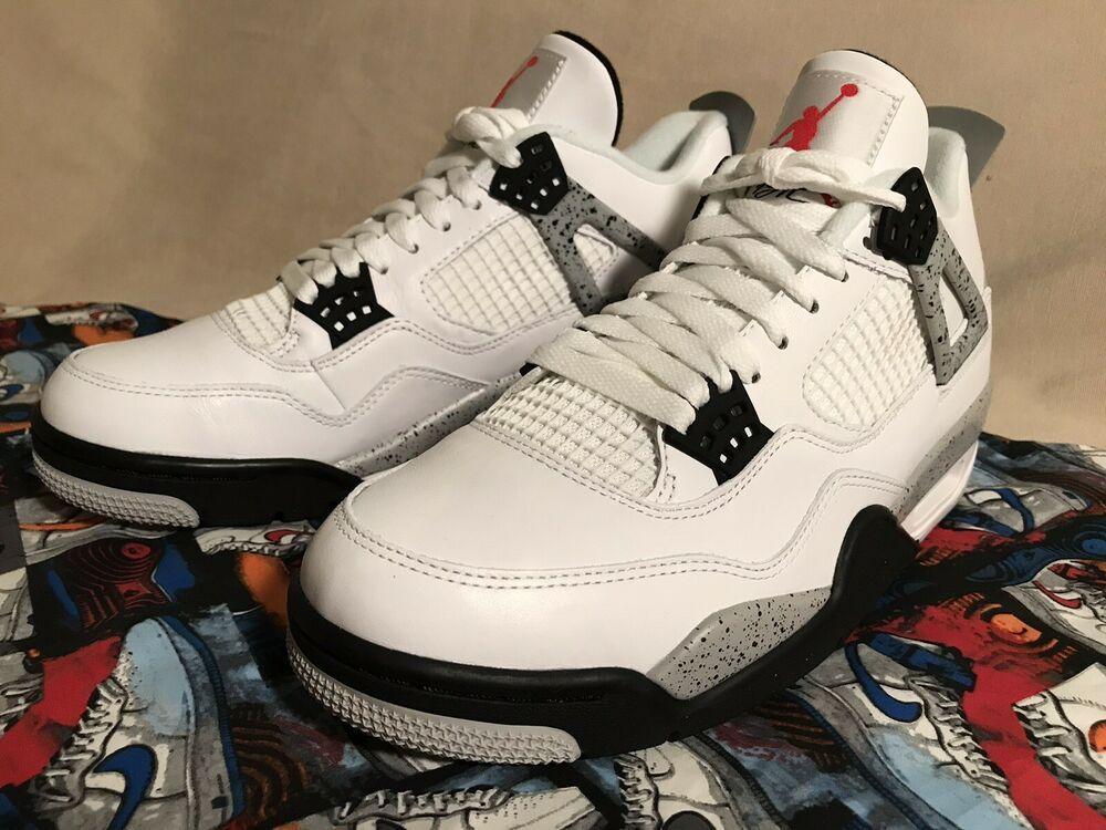 1fe96e67627 Nike Air Jordan Retro 4 IV OG US Sz 9 White Cement  fashion  clothing