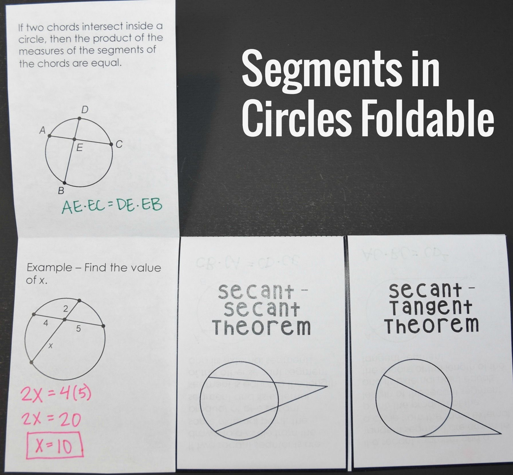 Segment Lengths In Circles Worksheet Answers