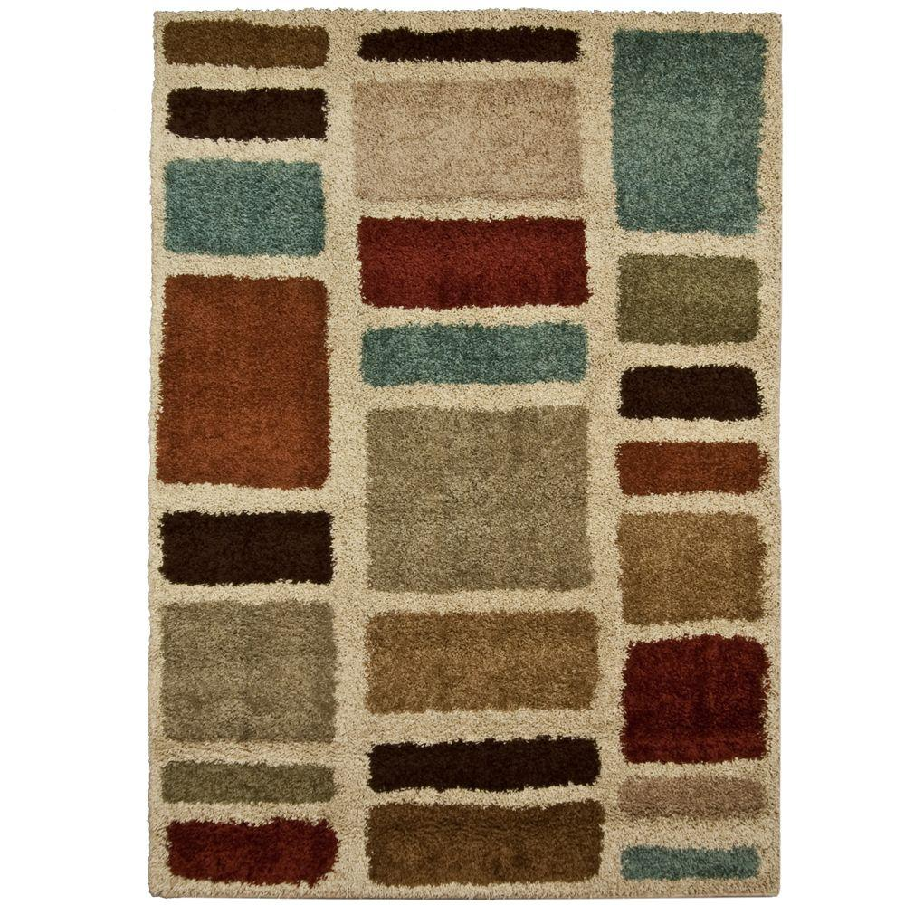Moodie Blues Multicolor 5 Ft X 8 Ft Area Rug 211283 Rugs Area
