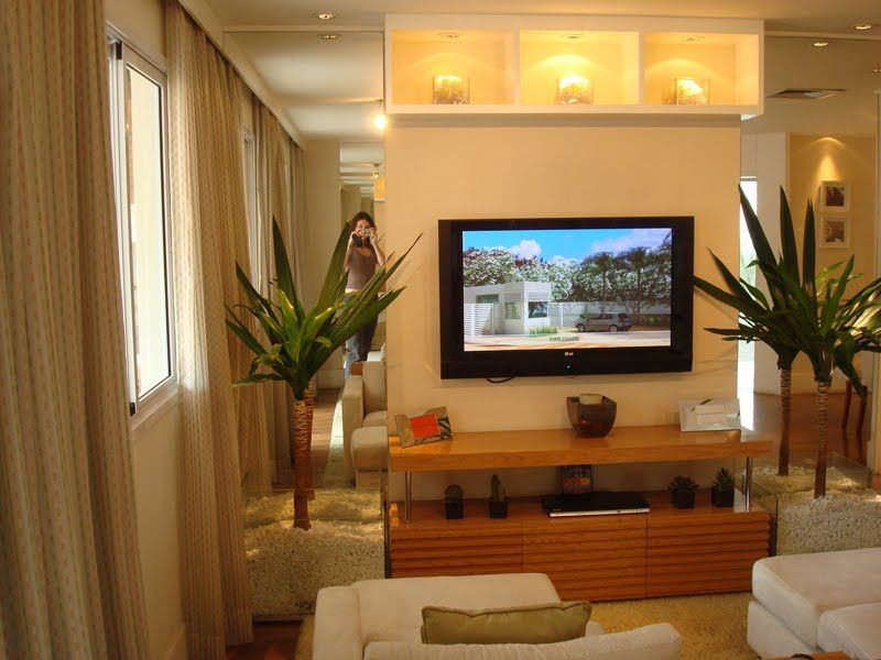 Decorar sala pequena de tv apto novo ideias pinterest for Sala wharf 73