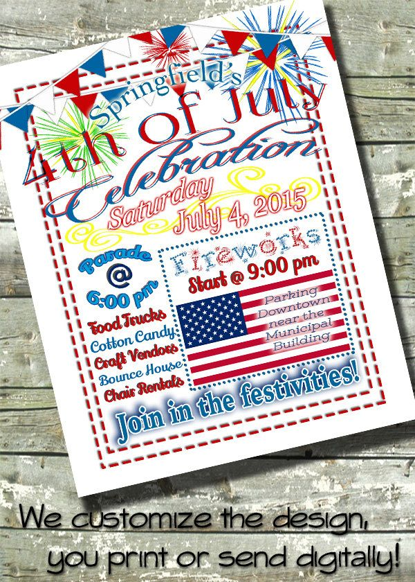 Fireworks ~ Independence Day ~ 4th of July ~ FOURTH of JULY FLYER - independence day flyer